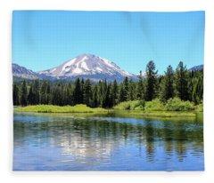 Manzanita Lake Reflection 1 Fleece Blanket