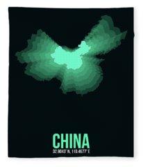 Map Of China 3 Fleece Blanket