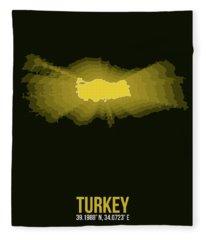 Map Of Turkey 3 Fleece Blanket