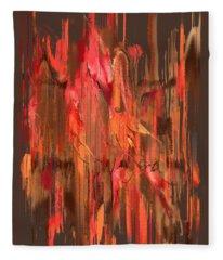Maple Leaf Rag Fleece Blanket
