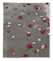 Maple Leaf Stroll Fleece Blanket