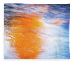 Maple Reflection Fall Fleece Blanket