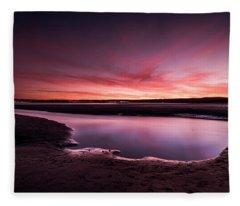 Marazion Sunset Fleece Blanket