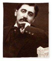 Marcel Proust, French Novelist Fleece Blanket