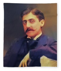 Marcel Proust, Literary Legend Fleece Blanket
