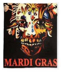 Mardi Gras Spirit 2013 Fleece Blanket