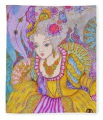 Marie Antoinette Fleece Blanket