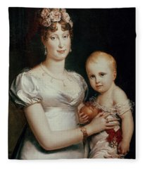 Marie-louise Of Habsbourg-lorraine And The King Of Rome, Detail Fleece Blanket