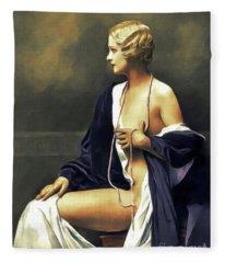 Marie Stevens, Vintage Actress Fleece Blanket