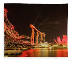 Marina Bay Sands Fleece Blanket