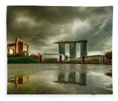 Marina Bay Sands Hotel Fleece Blanket