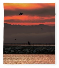 Marina Del Rey Fleece Blanket