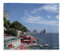 Marina Piccola Beach Fleece Blanket