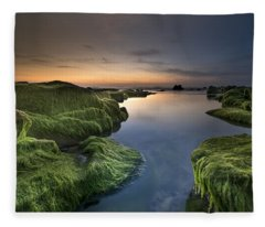 Marine Sunset Fleece Blanket