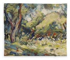 Marmari Olive Orchard Paxos Fleece Blanket