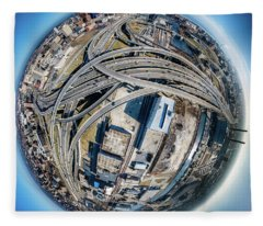 Marquette Interchange Little Planet Fleece Blanket