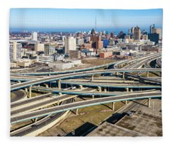 Marquette Interchange Fleece Blanket