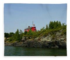 Marquette Michigan Lighthouse Fleece Blanket