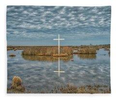 Marsh Cross Fleece Blanket