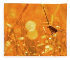 Marsh Sparrow Fleece Blanket