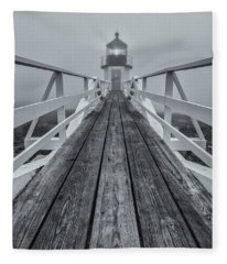 Marshall Point Lighthouse Fleece Blanket
