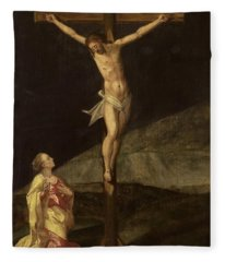 Mary Magdalene At The Foot Of The Cross, Ca 1610 Fleece Blanket