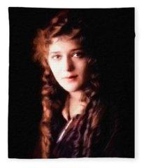 Mary Pickford, Portrait Fleece Blanket