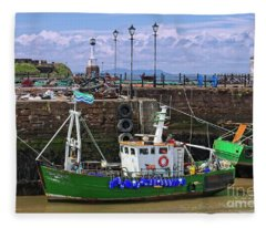 Maryport Harbour, Cumbria, England Fleece Blanket