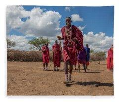 Maasai Welcome Fleece Blanket
