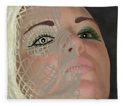 Mask Dark And Light Fleece Blanket