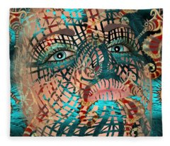 Mask Dreaming Of The Sea Fleece Blanket