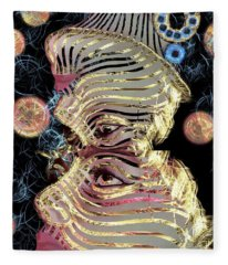 Mask My Minds Eye Fleece Blanket