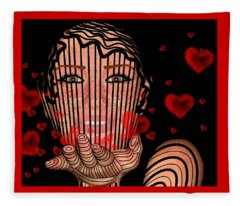 Mask Of Valentine Fleece Blanket