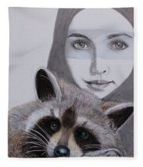 Masks Fleece Blanket