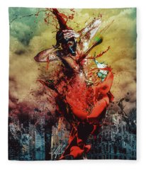 Masochistic Artist.  Fleece Blanket