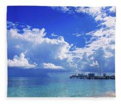 Massive Caribbean Clouds Fleece Blanket