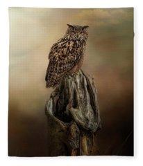 Master Of The Forest Fleece Blanket