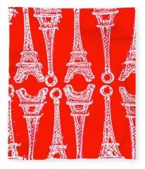 Match Made In Paris Fleece Blanket