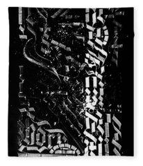 Matrix. Calligraphic Abstract Fleece Blanket