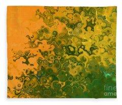 Matthew 11 12. Religious Earnestness Fleece Blanket