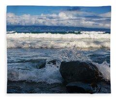 Maui Breakers Pano Fleece Blanket