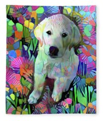 Max In The Garden Fleece Blanket