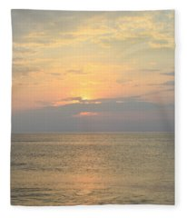 May 21st Nags Head Sunrise Fleece Blanket