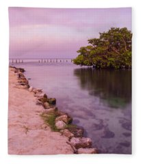 Mayan Sea Reflection 2 Fleece Blanket