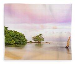 Mayan Sea Fleece Blanket