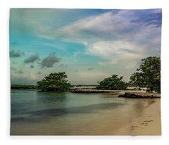 Mayan Shore 2 Fleece Blanket