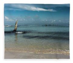 Mayan Shore 3 Fleece Blanket