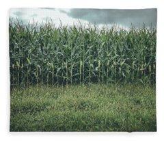 Fleece Blanket featuring the photograph Maze Field by Steve Stanger