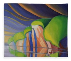 Mazinaw Rock I Fleece Blanket