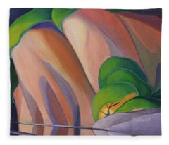 Mazinaw Rock II Fleece Blanket